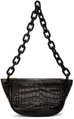 Simon Miller Black Croc Bend Bag