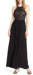 Morgan & Co. Lace & Chiffon A-Line Gown