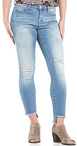 Miraclebody Jeans Ideal Ankle Destruction Detail Frey Step Hem Jeans