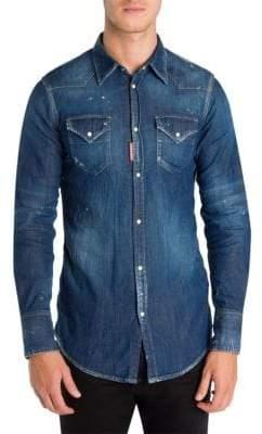 DSQUARED2 Western Denim Button-Down Shirt