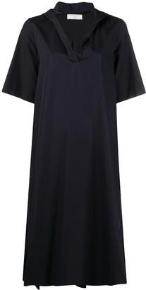 Societe Anonyme Hooded Shift Midi Dress