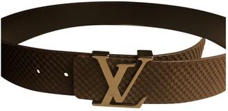Louis Vuitton Shape Brown Leather Belts