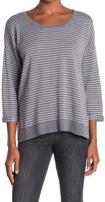 Heartloom Stripe Relaxed Fit 3/4 Sleeve Sweater