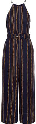 Nicholas Samira Cropped Printed Silk-georgette Wide-leg Jumpsuit