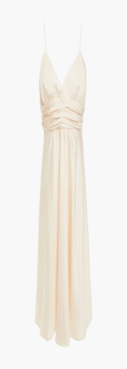 BA&SH Dixie Pleated Satin-crepe Mini Dress