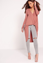 Missguided Extreme Twist Front Tunic Rose