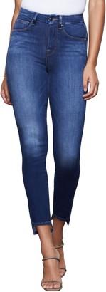 Good American Good Waist High Waist Step Hem Skinny Jeans
