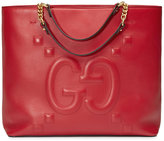 Gucci Embossed GG leather tote - women - Cotton/Leather - One Size