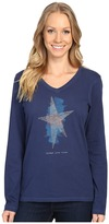 Life is Good Spread Good Vibes Star Long Sleeve Crusher Vee