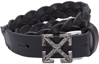 Off-White Black Braided Arrows Bracelet