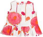Il Gufo Floral Printed Cotton Poplin Top