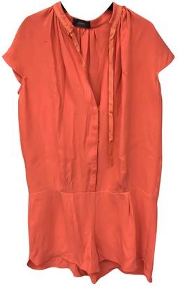 Joseph Orange Silk Jumpsuits