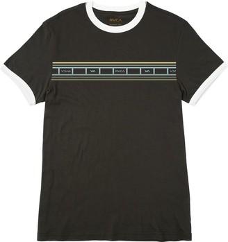 RVCA Young Mens Fade Stripe Ringer Tee Shirt