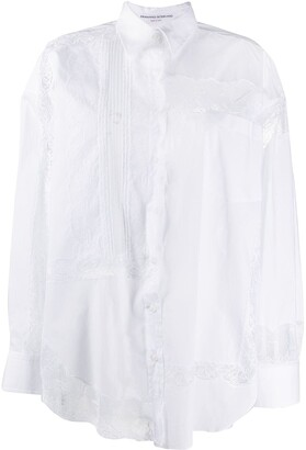 Ermanno Scervino lace insert shirt