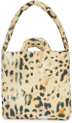 Kassl Editions Tec medium leopard-print padded twill tote