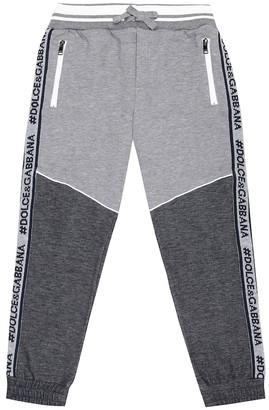 Dolce & Gabbana Kids Logo cotton-blend trackpants