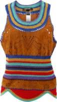 Roberto Cavalli Suede Knit Tank Top