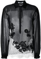 Blumarine lace panel blouse - women - Cotton/Silk/Viscose/Polyamide - 40