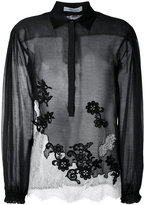 Blumarine lace panel blouse - women - Silk/Cotton/Polyamide/Viscose - 40