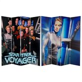 Oriental Furniture 6-Feet Tall Double Sided Star Trek Voyager Canvas Room Divider