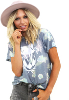 Wildfox Couture Palm Springs Oversized Tee in Multi
