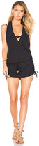 Luli Fama T Back Mini Dress in Black. - size L (also in M,S,XS)