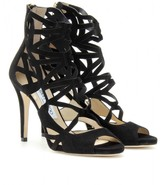 Jimmy Choo VERDICT SUEDE STILETTO SANDALS