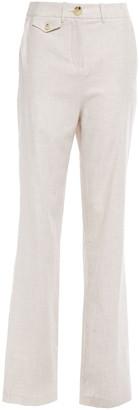 ANNA QUAN Roxy Twill Straight-leg Pants