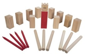 Viva Sol Triumph Kubb Viking Chess Outdoor Wooden Game Set Combines Bowling and Horseshoes for Players of All Ages