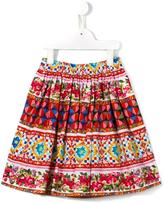 Dolce & Gabbana Mambo print skirt - kids - Cotton - 4 yrs