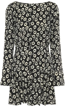 Rixo Valentina floral silk minidress