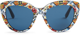 Dolce & Gabbana Majolica-print cat-eye sunglasses