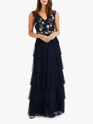 Phase Eight Collection 8 Cordelia Tiered Dress, Navy