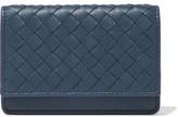 Bottega Veneta Intrecciato Leather Cardholder - Storm blue