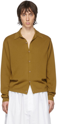 Dries Van Noten Yellow Rib Cardigan