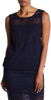 Cupcakes And Cashmere Kaden Embroidered Tank