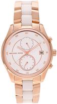 Michael Kors Rose Gold & White Multifunction Bracelet Watch