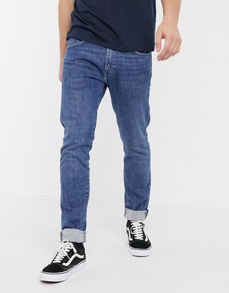 Edwin ED85 skinny fit jeans in washed blue denim