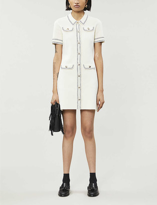 Maje Rosie cotton-knit mini dress