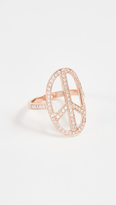 Jacquie Aiche 14K Gold Peace Ring
