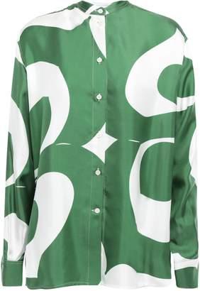 Victoria Beckham Printed Silk Satin-twill Shirt