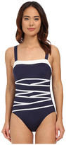 Nautica Signature Rem Soft Cup One-Piece with Strapping Detail NA27576