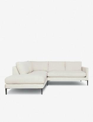 Lulu & Georgia Allisen Left-Facing Bumper Sectional Sofa, Sand