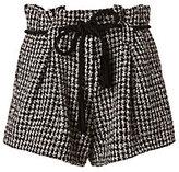 L'Agence Houndstooth Paperbag Shorts