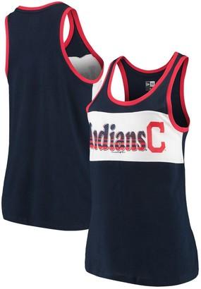 New Era Women's Navy Cleveland Indians Racerback Baby Jersey Tank Top
