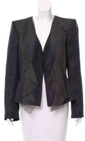 Giorgio Armani Structured Silk-Blend Evening Jacket w/ Tags