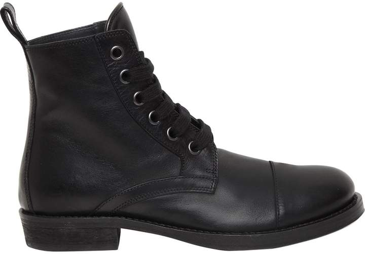 Ann Demeulemeester 20mm Leather Combat Boots