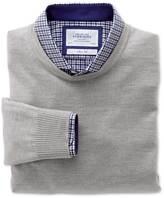 Charles Tyrwhitt Silver merino wool crew neck sweater