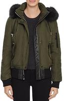 Vince Camuto Faux Fur Trim Puffer Bomber Jacket