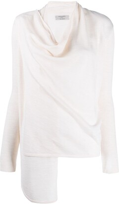AllSaints Draped Neck Knitted Top